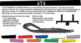C,A Pro XTX Extreme Crossover Ski